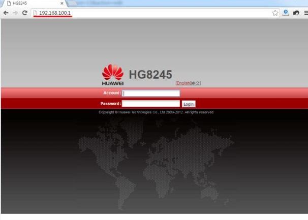 192.168.100.1 IP Admin Router login 192.168.l00.1